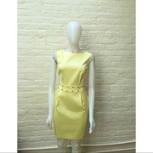 NWT LOVE REPUBLIC Yellow Satin Sexy Sheath Dress 6